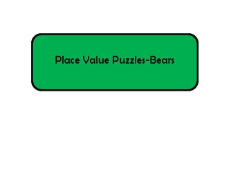 Place Value Puzzles-Very minimal prep! St. Patrick's Day Theme