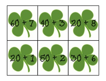 St. Patrick's Day Place Value Sort