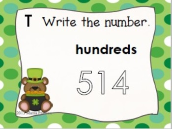 St. Patrick's Day Place Value Task Cards
