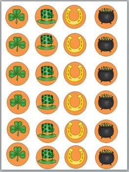 St Patrick's Day Play Dough & Counting  Mats
