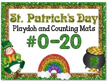 St. Patrick's Day Playdoh and Counting Mats