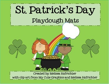 St. Patrick's Day Playdough Mats