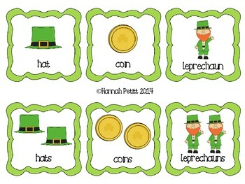 St. Patrick's Day Plurals Match