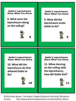 St. Patrick's Day Poem and Literacy Activities
