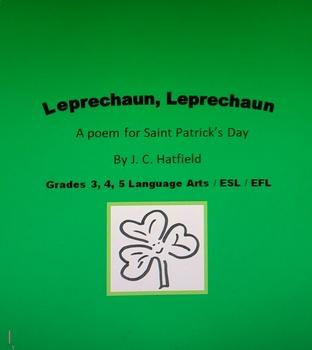 St. Patrick's Day Poem  LEPRECHAUN, LEPRECHAUN