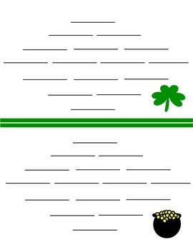 St. Patrick's Day Poetry - Diamante