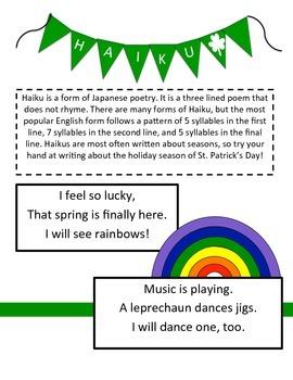 St. Patrick's Day Poetry - Haiku