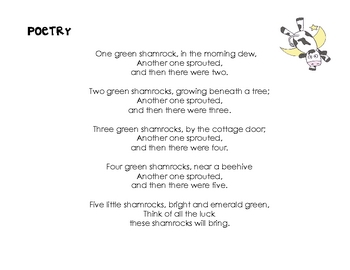 St. Patrick's Day Poetry Literacy Center