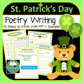 St Patrick's Day Poetry Writing Fun - 10 Poems to Write in Lower Secondary