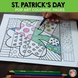 St. Patrick's Day Coloring - Interactive Coloring Sheets + Writing Prompts