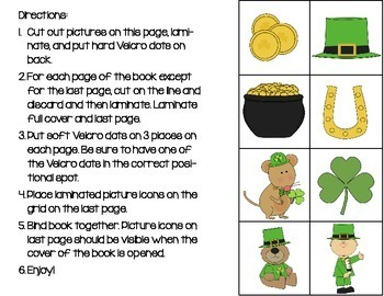 St. Patrick's Day Positional Words Book