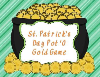 St. Patrick's Day Pot O' Gold Game Freebie