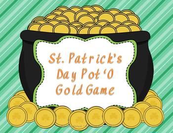 St. Patrick's Day Pot O' Gold Game Freebie