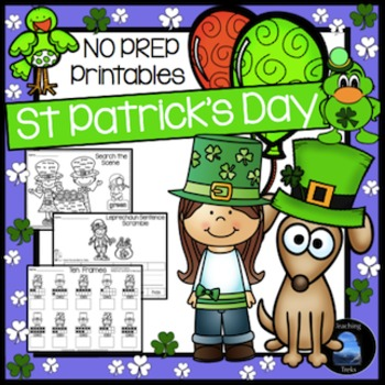 St. Patrick's Day Math and Language Activities