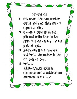 St. Patrick's Day Pot of Gold Fact Families