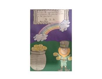 St. Patrick's Day Pot of Gold Math Craftivity