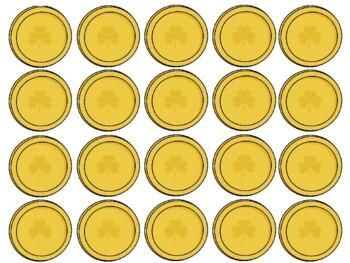 St. Patricks Day Pot of Gold Number Mat