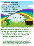 St. Patrick's Day 'Potluck' to Develop Comprehension & Language Skills