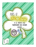 St. Patrick's Day Pots O' Gold: Multiplication and Division Kinesthetic Activity