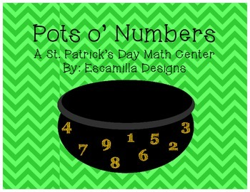 St. Patrick's Day Pots o' Numbers: 3 Number & Number Word