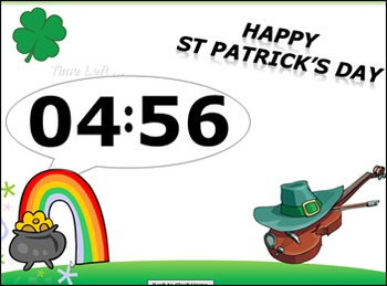 St Patrick's Day PowerPoint Timer – Classroom Timer – St Patrick Day Timer