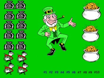 "St. Patrick's Day Powerpoint Game ""Lucky Leprechaun"""