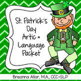 St. Patrick's Day Articulation and Language Packet