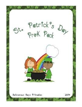 St. Patrick's Day PreK Printable Learning Pack