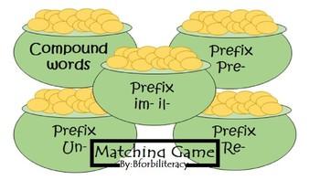 St. Patrick's Day-Prefix/Compound Matching Game