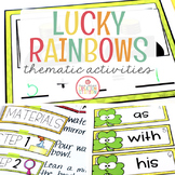 RAINBOWS, LIGHT AND ST. PATRICK'S DAY UNIT FOR PRESCHOOL,