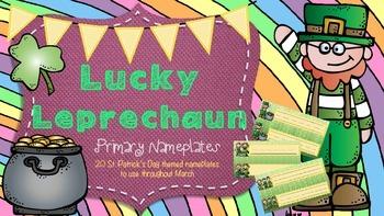 St. Patrick's Day Primary Nameplates