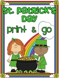 St. Patrick's Day Math and Literacy March Activities No Prep
