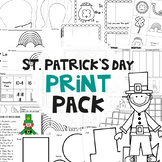 St Patrick's Day No Prep Print Pack
