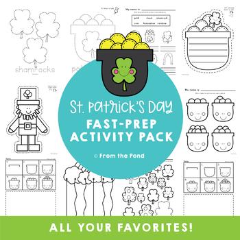 St Patrick's Day No Prep Print Pack