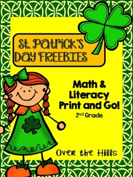 St. Patrick's Day Print and Go!  Math and Literacy Freebies {2nd Grade CCSS}