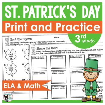 St. Patrick's Day Print and Practice- 10 Print and Go Pages