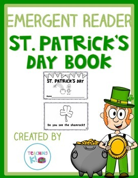St. Patrick's Day Printable Emergent Reader Book Level A