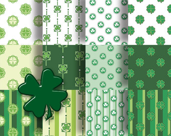 "St Patrick's Day Printable Papers For Crafts or Decorations 12, 12 x 12"" 300 DPI"