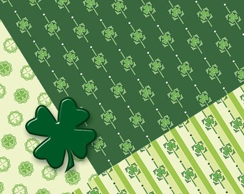"""St Patrick's Day Printable Papers For Crafts or Decorations 12, 12 x 12"""" 300 DPI"""