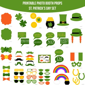 St. Patrick's Day Printable Photo Booth Prop Set