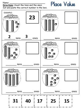 St. Patrick's Day Printables Math & Literacy
