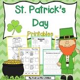 St. Patrick's Day Printables Math & Literacy