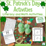St. Patrick's Day Printables for Literacy and Math