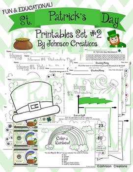 St. Patrick's Day Printables Set #2