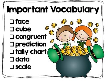 St. Patrick's Day Probability/Graphing Activity: Hands-On Math for 2nd/3rd Grade