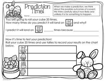 Easter Probability/Graphing Activity: Hands-On Math for 2nd/3rd Grade