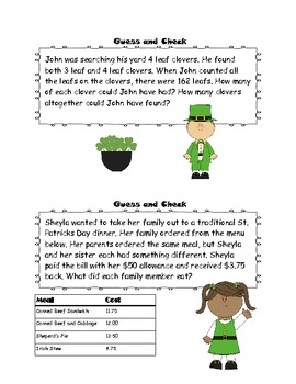 St. Patrick's Day Problem Solving Ring - 7 Strategies
