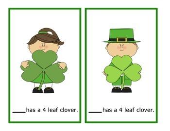 St. Patrick's Day Pronoun Cards