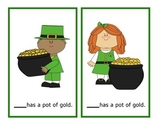 St. Patrick's Day Pronoun Cards