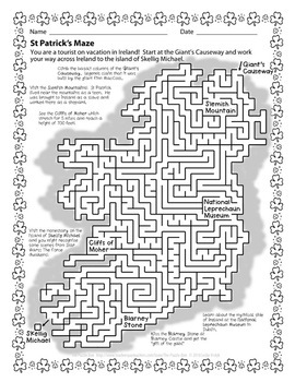 St Patrick's Day Puzzle Bundle for Grades 1 to 6